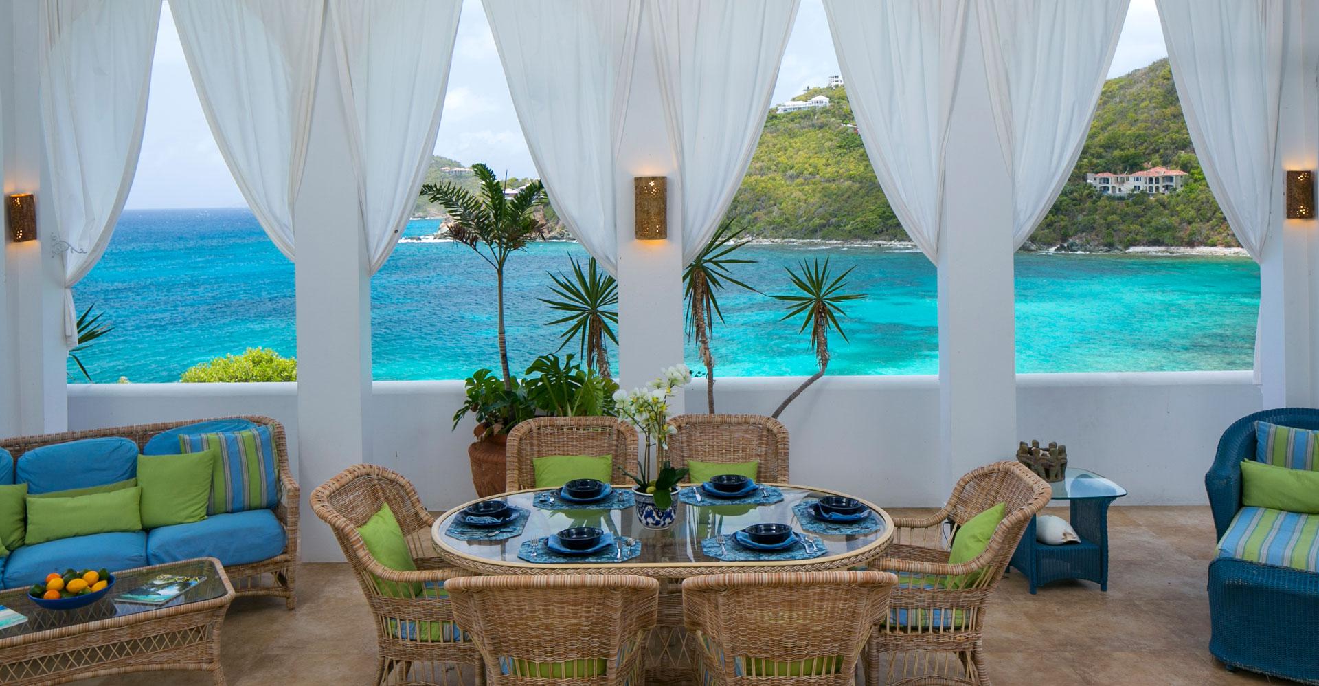 Monte Bay Villa patio seating