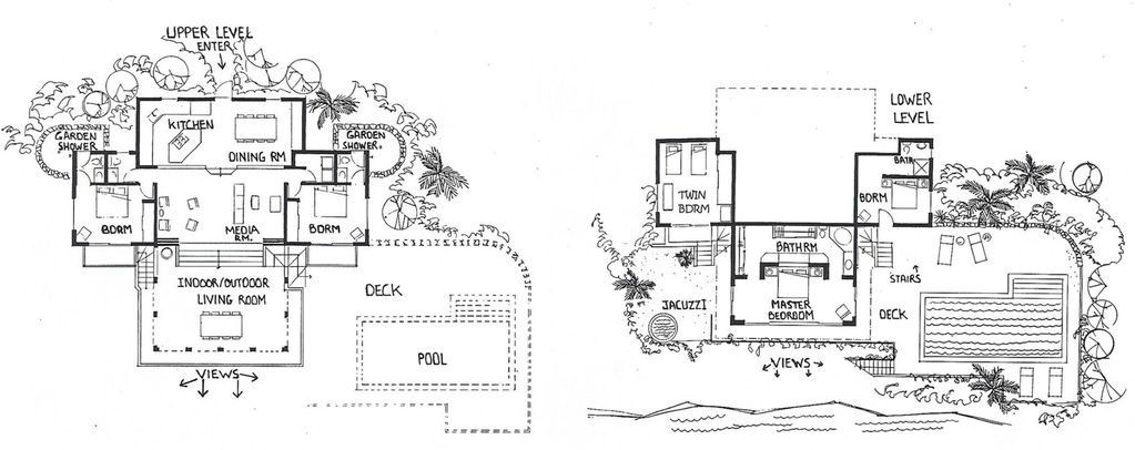 Monte Bay Villa floor plans horizontal